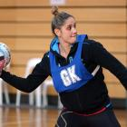 Te Paea Selby-Rickit trains with the Southern Steel at the Edgar Centre in Dunedin on Thursday...