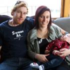 The Brown family, Peter, Ashleigh and Riley at their Alexandra home in August last year. Photo by...