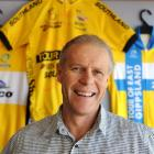 Cyclist Brad Evans' father, Wayne, is all smiles at Spin Cycles at Mosgiel last week. Photo by...