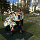 Donna McIntyre poses with a pop art koala. Left: PHOTOS: SUPPLIED