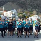 Goldfields School pupils at the ''launch'' a year ago of Old Cromwell Heritage precinct being...