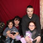 Clarrisa Garces and Aaron Newman and their twins, Braedon and Rhiannon, at their Invercargill...