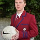Kavanagh College pupil Ben O'Farrell plans to play football for a European club next year. Photo...
