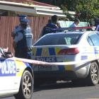 Police at the scene on Favona Rd. Photo: NZ Herald
