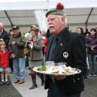 Spencer Morrison, of Invercargill, prepares to recite the Ode to the Oyster at last year's Bluff...