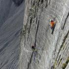 Steven Fortune (top right) climbs at Twin Stream, Mount Cook, with Christchurch's David Chen this...