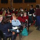 Bright young minds prepare to tackle the Otago Daily Times Extra! spelling quiz at Cromwell...
