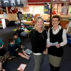 East Taieri School innovative teaching project leader Janine Clague (left) and principal Jennifer...