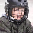 Ethan Chisholm (4), of Oturehua, was well kitted out for his turn  on the Maniototo Ice Rink....