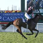 Gargamel and Alan Browne in winning form in the Grand National Hurdle at Riccarton two years ago....