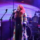 Molly Devine warms up the crowd at the official opening of the festival on Friday night. Photo:...