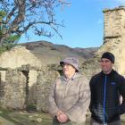 Otago Goldfields Heritage Trust member Bruce McMillan, of Bannockburn, and secretary Terry Davis,...