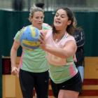 South player Lucy Heenan delivers a pass during a training session at the Edgar Centre this week...