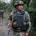 Ukrainian servicemen on the front line near Avdeyevka. Photo Reuters