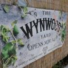 The sign for Wynwood Yard in the Wynwood arts district of Miami. Photo Reuters