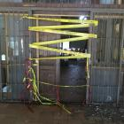 The entrance of a ranch in Tanhuato, Mexico, where a firefight between armed civilians and...
