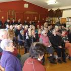 About 100 people gather in Ranfurly yesterday to discuss the retention of the district's only...