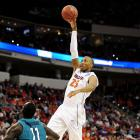 Akil Mitchell in action for the University of Virginia. Photo: Reuters