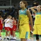 Australia players were devastated after losing to Serbia in their quarterfinal. Photo: Reuters