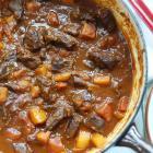 Beef, pepper and pumpkin stew. Photos by Simon Lambert.