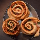 Brew Cafe's savoury pinwheels. Photo by Gregor Richardson.
