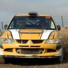 Surprise victors Vaughan Edie and Dunedin co-driver Tony Johnston (Mitsubishi EVO 8)  in the 2016...