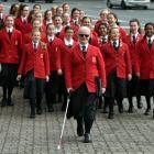 Chilton Saint James School pupil Britnee Tapara and fellow Seraphim Choir members outside the...