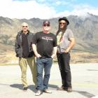 UB40 members soak up the Queenstown sun the day before their washed-out January concert this year...