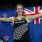 Eliza McCartney after winning her bronze medal. Photo: Getty Images