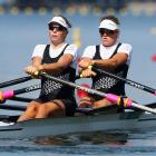 Eve Macfarlane and Zoe Stevenson are out of the women's double sculls. Photo: Getty Images
