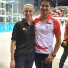 Kirsty Fairbairn and Joseph Schooling back in Singapore, where Kirsty visited him this week,...