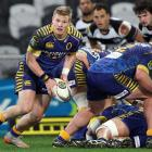 Otago halfback Kaide Whiting in action against Hawke's Bay in Dunedin last season. Photo by Getty...