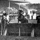 New York leading in the NZ Grand National Steeplechase at Riccarton. — Otago Witness, 23.8.1916.