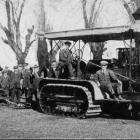A 75 h.p. Holt Caterpillar Tractor at the recent Hawkes Bay Ploughing Club's meeting, pulling 15...