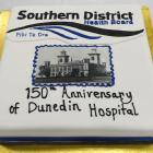 A decorated cake marks the 150th anniversary of Dunedin Hospital in Great King St. Photos: Gerard...