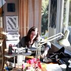 Melanie Child works in her home studio.