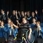 Kiri Cassidy, of St Kilda, Dunedin, practises with his kapa haka group He Waka Kotuia. Photo:...