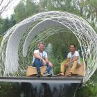 Leon Kluge and Bayley LuuTomes in their prizewinning garden, Eco-Scape. Photos by Gillian Vine.