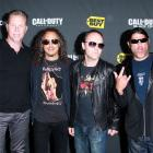 James Hetfield, Kirk Hammett, Lars Ulrich, Robert Trujillo.  Photo: Bang Showbiz