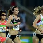 Nikki Hamblin runs during the 5000m final. Photo: Getty Images