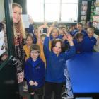 Enjoying their first day in their new classroom, part of Fenwick Primary School's converted...