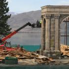 What was to be a Sea of Galilee fishing village and harbour at Falstone Camp is demolished by...