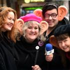 (from left) Otago Community Broadcasters Society chairwoman Chanel O'Brien, broadcaster Julie...
