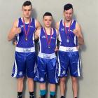 Otago Boxing Association boxers (from left) Alex Hanan, Kasib Murdoch and Matt Crawford display...