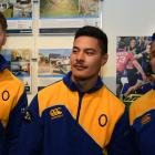 At the launch of the Otago season last night at a function in Dunedin are (from left) lock Blair...