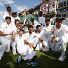 Pakistan celebrate their win. Photo: Reuters