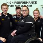 Dunedin Paralympians (from left) Holly Robinson, Jacob Phillips, Rory McSweeney, Jessica Hamill,...