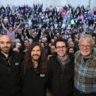 Pete's Dragon crew (from left) director and co-writer David Lowery, co-writer Toby Halbrooks,...