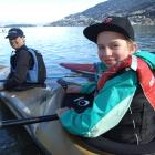 7 Torpedos team member Zoe Bennetts  and her mother Keren prepare to start the kayak leg of the...