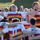 John McGlashan College First XV players (from left): Rory Ferguson, Reon Lowery and Sam Moir...